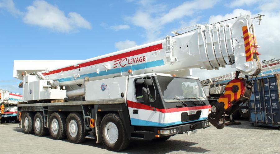130-ton mobile crane in Mauritius