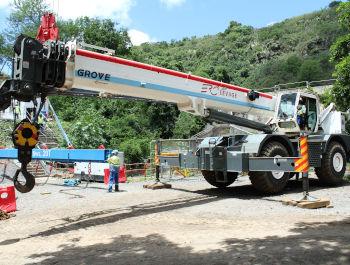 Mobile crane rentals in Mauritius