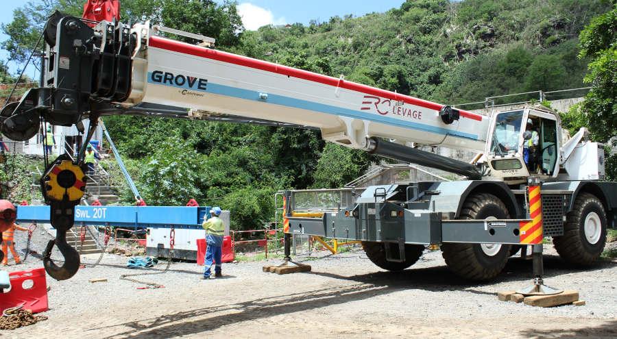 75-ton mobile crane rental in Mauritius